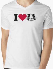 I love Hamster Guinea pig Mens V-Neck T-Shirt