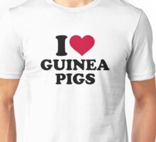 I love Guinea pigs Unisex T-Shirt