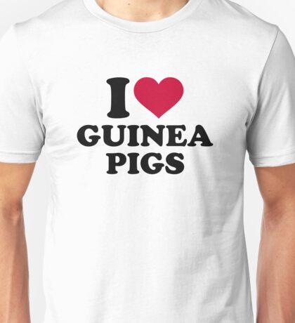I love Guinea pigs Unisex T-Shirt