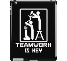 TEAM WORK IS KEY Funny Geek Nerd iPad Case/Skin