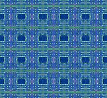 blue and lime stripes and squares by purplestgirl