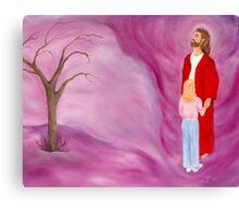 JESUS IN THE TORNADO OF LIFE ORIGINAL OIL PAINTING Canvas Print