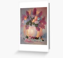 LILACS ORIGINAL OIL PAINTING Greeting Card