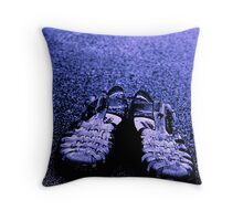 BLUE SANDALS Throw Pillow