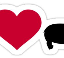 I love hippos Sticker