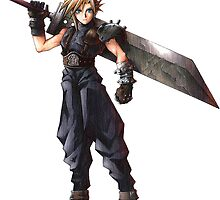 Final Fantasy 7 - FF7 - FFVII - Cloud, with buster sword. by endgameendeavor
