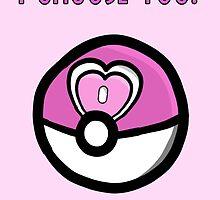 I choose you! Pokemon Loveball Design by noiwont