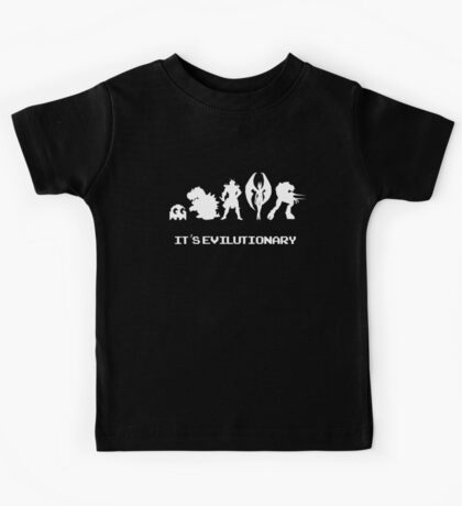 It's Evilutionary (with text) Kids Tee