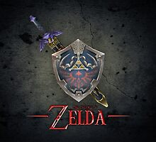 The Legend of Zelda, sword and shield by endgameendeavor