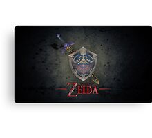 The Legend of Zelda, sword and shield Canvas Print