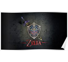 The Legend of Zelda, sword and shield Poster