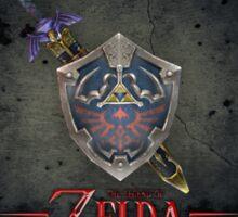 The Legend of Zelda, sword and shield Sticker
