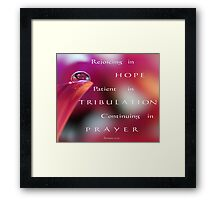 PINK Collection for the Cure - Her faith Framed Print