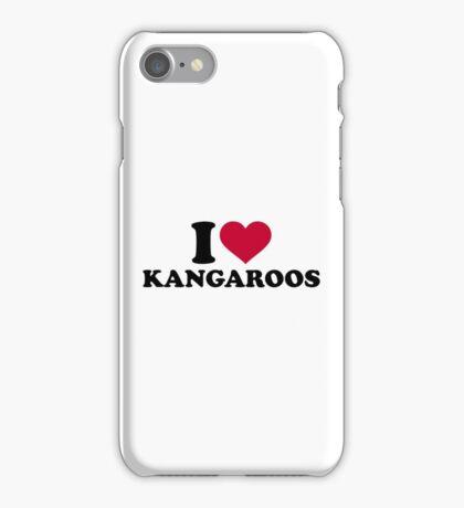 I love Kangaroos iPhone Case/Skin