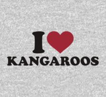 I love Kangaroos One Piece - Short Sleeve