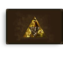 The Legend of Zelda, triforce Canvas Print