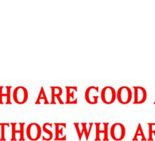 There are 3 kinds of people in this world those who are good at Funny Geek Nerd Sticker