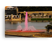 The Pink Fountain Canvas Print