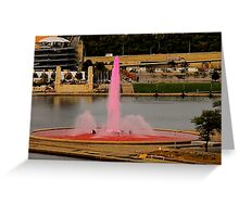The Pink Fountain Greeting Card