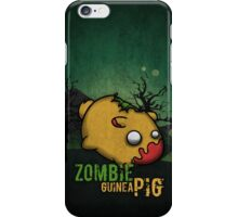 Zombie guinea pig iPhone Case/Skin