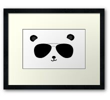 Badass Aviator Panda Framed Print
