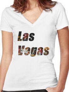 Las Vegas Women's Fitted V-Neck T-Shirt