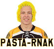 "Boston Bruins Right Wing Forward David ""Pasta-rnak"" Pastrnak by megosaurus"