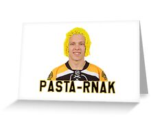"Boston Bruins Right Wing Forward David ""Pasta-rnak"" Pastrnak Greeting Card"