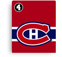 Montreal Canadiens - 2014-15 Jersey - red Canvas Print