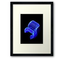 ©NLE The Neon Warp Speed IA. Framed Print