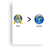 Ares Over Itunes Canvas Print