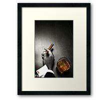 Poker Noir Framed Print