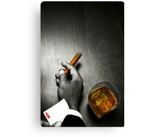 Poker Noir Canvas Print