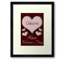 Calzona Happy Valentines Day Framed Print