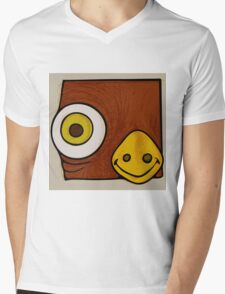 Brown bird Mens V-Neck T-Shirt