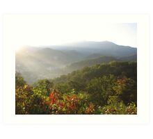 First Light,  Smokey Mountains Art Print