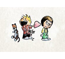 Calvin and Hobbes and Susie Fan Art Photographic Print