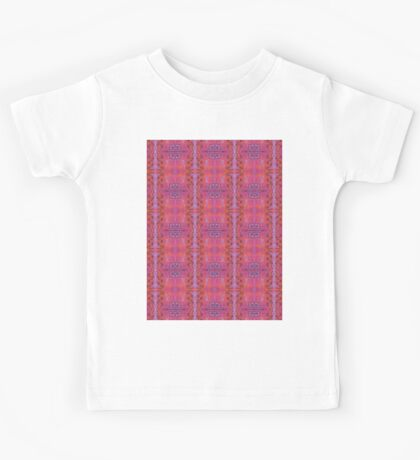 purple and blue square spirals Kids Tee