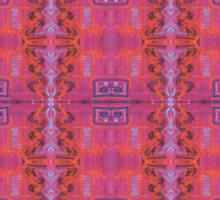 purple and blue square spirals Sticker