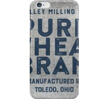 Vintage Feed Sack Wheat Bran iPhone Case/Skin