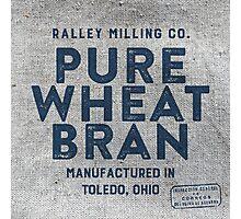 Vintage Feed Sack Wheat Bran Photographic Print