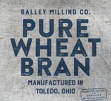 Vintage Feed Sack Wheat Bran by marceejean