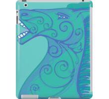 Blue horse iPad Case/Skin