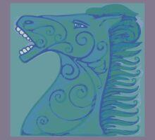 Blue horse Kids Tee