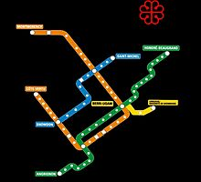 Montreal Metro Map Canada Quebec Travel by gsus17