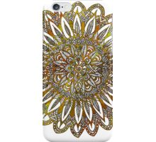 Coloring Mandala on White Background iPhone Case/Skin