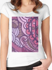 Purple pattern Women's Fitted Scoop T-Shirt