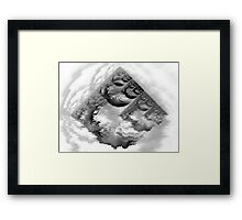 ©DA FS Piramid Monochrome V4B. Framed Print
