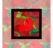 Red roses pattern Photographic Print