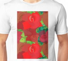 Red roses pattern Unisex T-Shirt